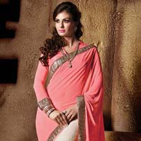 Designer Saree with Cream Color