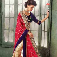 Latest Stylish Georgette Designer Saree with Gold Color - 9437