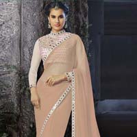 Latest Stylish Georgette Designer Saree with Lite Pink Color - 9450d