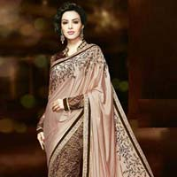 Georgette Designer Saree with Lite Pink Color