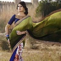 Latest Stylish Georgette Designer Saree with Multi Color - 9192