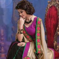 Latest Stylish Georgette Designer Saree with Multi Color - 9240