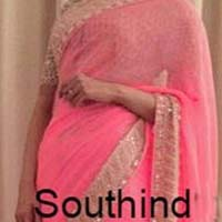 Latest Stylish Georgette Designer Saree with Pink Color-9361