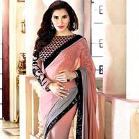 Georgette Designer Saree with Pink Color