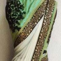 Designer Saree with White Color