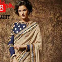 Jacquard Designer Saree with Beige Color