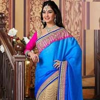 Jacquard Designer Saree with Blue Color