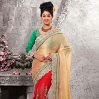 Latest Stylish jacquard designer saree with Red color - 9232