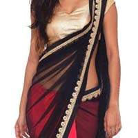 Designer Saree with Black Color
