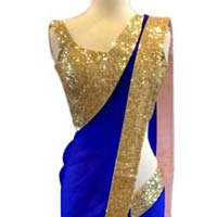 Latest Stylish Net Designer Saree with Blue Color-9247 Blue