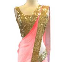 Net designer saree with Pink color