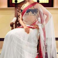 Net Designer Saree with White Color