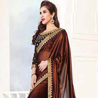 Latest Stylish Silk Designer Saree with Coffee Color - 9314