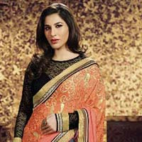 Stylish Jacquard Designer Saree