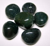 Bottle Green Polished Pebble Stones