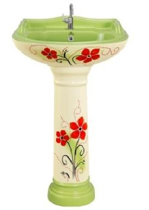 Vitrosa Series Pedestal Wash Basin (104)