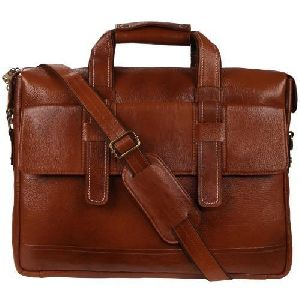 Dark Brown Laptop Leather Office Bags