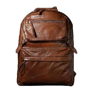 Dark Brown Leather College Bags