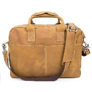 Light Brown Laptop Leather Office Bags