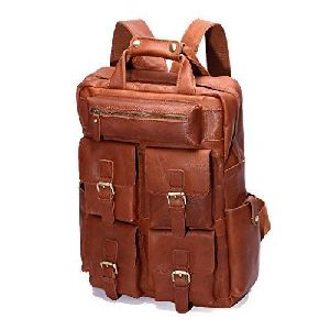 Many Pocket Leather College Bags
