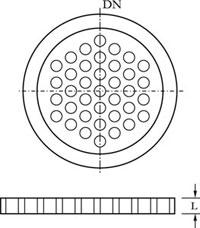 PTFE-Perforated Plate/Packing Retainer