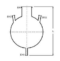 Three Neck Bottom Outlet Spherical Vessel