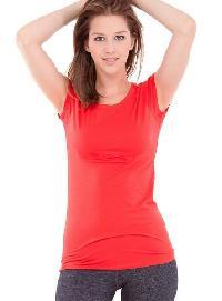 Ladies Round Neck T-Shirts 01