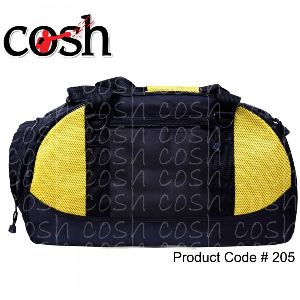Black & Yellow Gym Duffle Bag