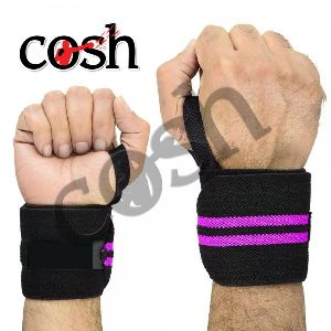 Black & Purple Weightlifting Wrist Wrap