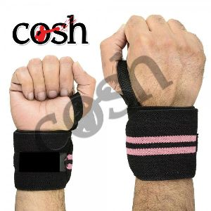 Black & Pink Weightlifting Wrist Wrap