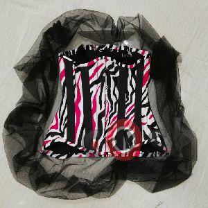 Printed Zebra Boning Corset