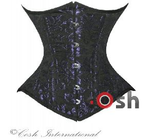 Purple Brocade Underbust Steel Boned Corset
