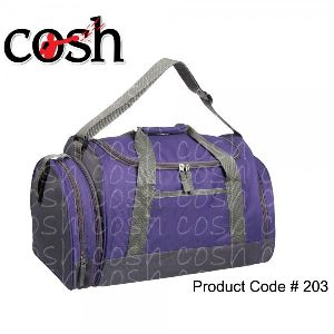 Purple Gym Duffle Bag