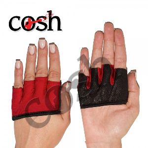 Ladies Red & Black Weightlifting Hand Grips