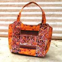 Designer Cotton Top Handle Bag