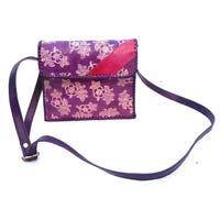 Purple Leather Shoulder Cross Bag