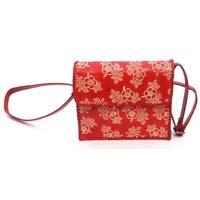 Red Leather Shoulder Cross Bag