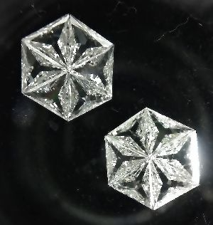 Hexagonal Pie Cut Diamonds