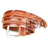 Mens Leather Belt (G58952TAN)