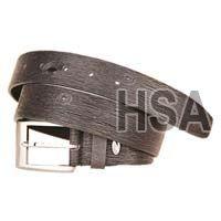 Mens Leather Belt (G58956BLK)