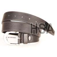 Mens Leather Belt (G58957BLK)