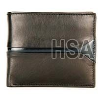 Mens Leather Wallet (F65910BLK)