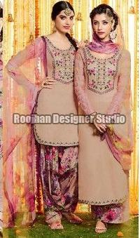 Crepe Patiala Suit 05