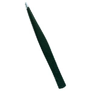 TI-E-B-1 Rubber Coated Eyebrow Tweezer
