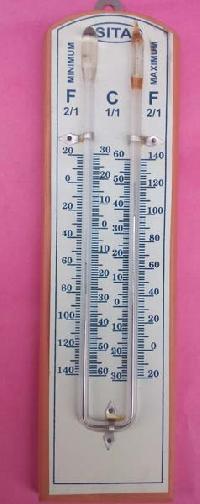 Maximum Minimum Wooden Thermometer