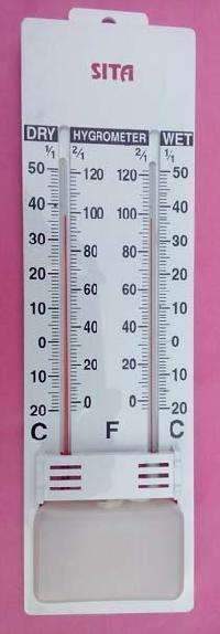 Wet Dry White Plastic Hygrometer