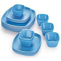 Cello Melamine Square Dinner Set