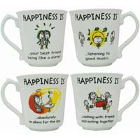 Oasis Bone China Coffee Mugs