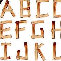 Wooden Alphabet Letters 01