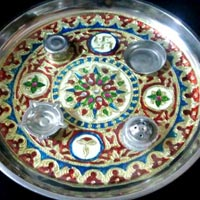 Decorative Pooja Plate 01